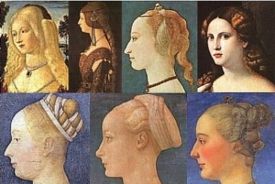 Прически средневековья в западной европе